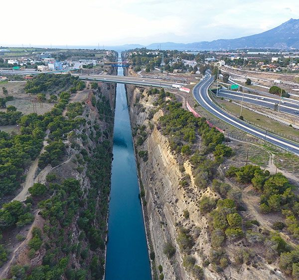 Great canal of Isthmos, Corinth