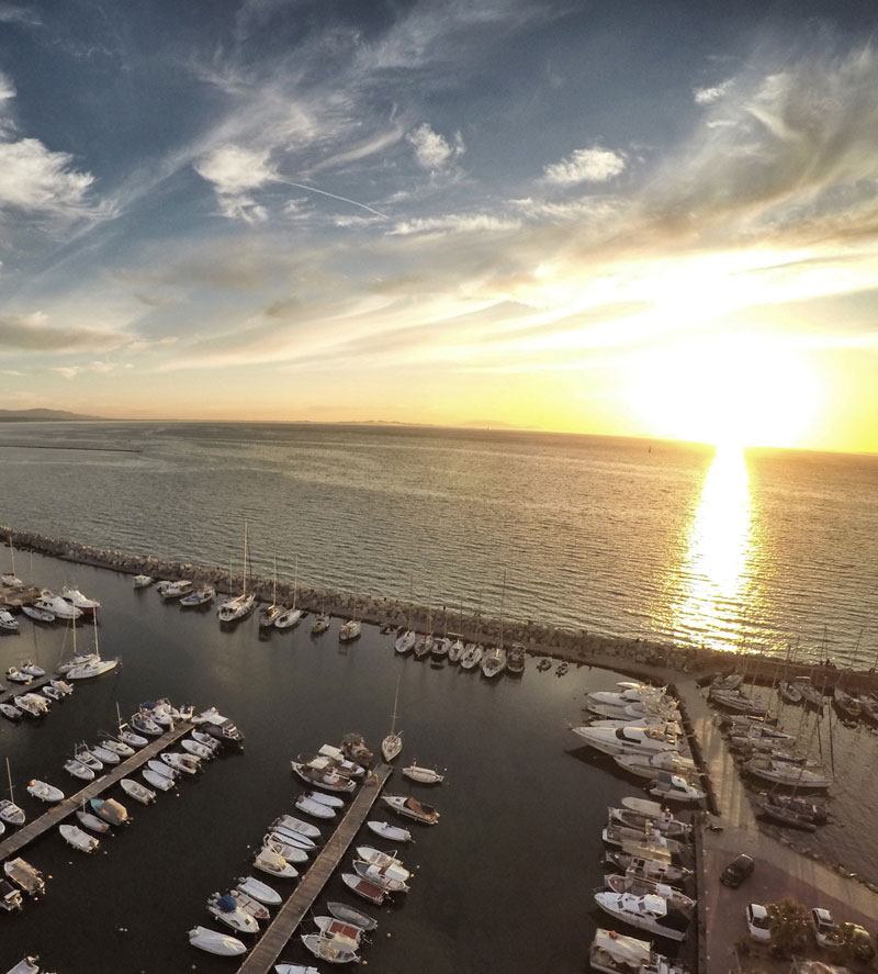 Sunset at Marina Patras